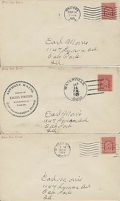 #680 Gen. Anthony Wayne Fallen Timbers RSC cachet First Day covers group of 5 di