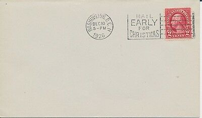#634 2c  George Washington First Day cover 12/10/1926 Lets go Citizens Military