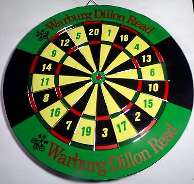Warburg Dillon Read Dartboard Stocks Nyse Stockbroker 2 Sided Wall Street Ubs