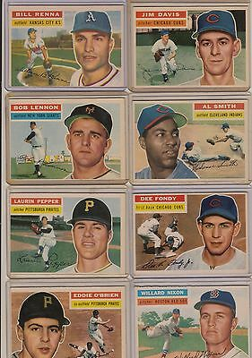Topps 1956 Baseball Cards-Select from a list
