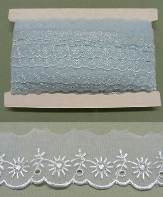 Embroidered Organza Lace  Blue  X 68 meters  (No2)