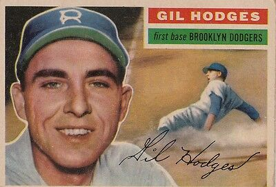 Topps 1956 #145 Gil Hodges-Brooklyn Dodgers