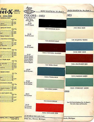 1953 Buick Special Roadmaster Super Estate Wagon 53 Paint Chips Acme 6
