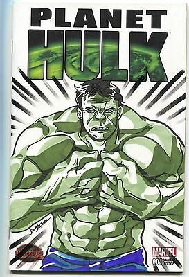 Planet Hulk 1 Marvel 2015 NM Blank Sketch Seohi Song Marker Original Art