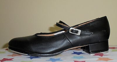 Women's Black Leather BLOCH Techno Tap Shoes Size 8.5 M GREAT Condition