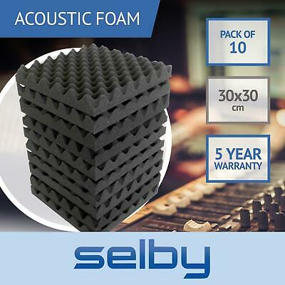 10pk 30x30cm Eggshell Sound Foam Panels Tiles Acoustic Treatment