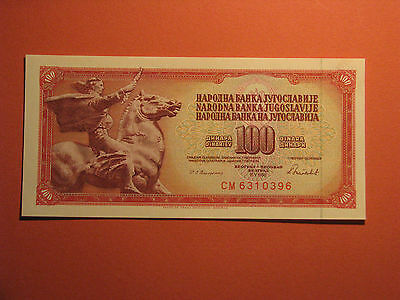 Yugoslavia 100 Dinars 1986 Unc Banknote Paper Money Bill Currency Bank Note