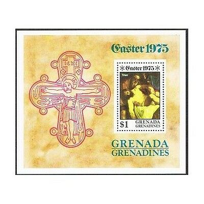 Grenada Gren 66,MNH. Michel 70 Bl.8. Easter 1975.Crucifixion,by Titian.