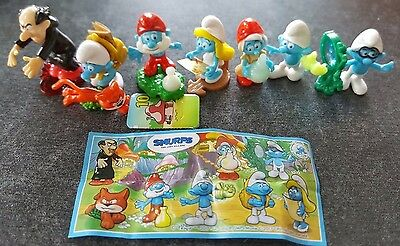 Smurfs, Schlümpfe, Puffi, 2017, EU, compl. set incl. all 8 Bpz (2 different)