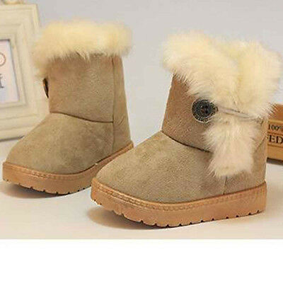 1 Pair Fashion Winter Baby Girls Child Snow Boots Warm Shoes US Size 6-6.5