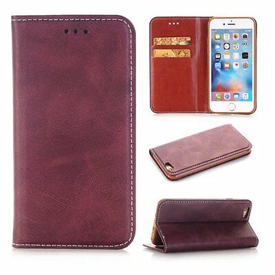 Luxury Purple Leather Flip Magnet Case Wallet Sfot Cover for iPhone 6 S 4.7 XHZ2