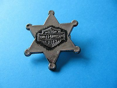 HARLEY DAVIDSON Motorcycles Sheriffs pin badge. Metal.