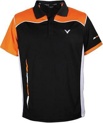 VICTOR Damen Polo Function 6134 schwarz orange Sport Shirt Badminton Größe 42