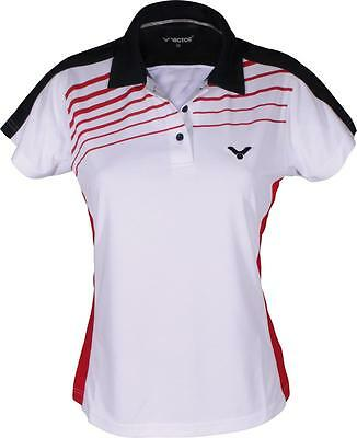 VICTOR Polo Shirt 6212 weiß Damen Function Shirt Badminton Sport Training Gr. 36