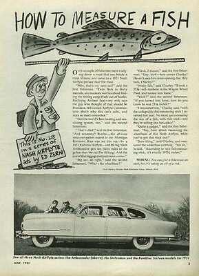 How to Measure a Fish Nash Ambassador Airflyte ad by Ed Zern 1951