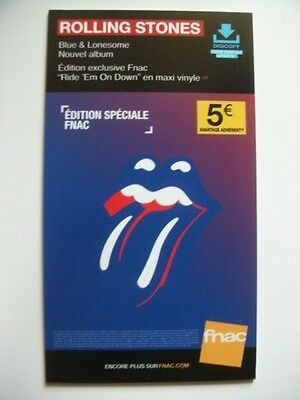 Plv/14X25 Cm/ Sting / The Rolling Stones / Blue & Lonesome