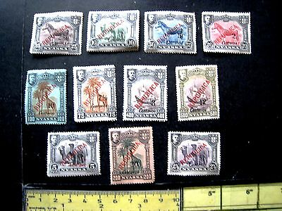 "Selection Of Nyassaland ""republica"" Overprints Mint Hinged.1911"