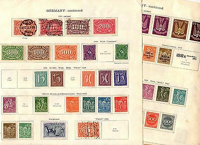 Stamps (100+) ~ GERMANY Early Classics ~ Mix UNSORTED Unchecked