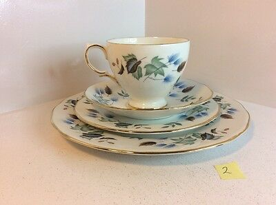 Colclough  Cup, Saucer, Side Plate And Tea Plate Set With Linden Pattern