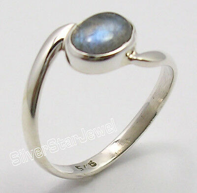 925 Sterling Silver BLUE FIRE LABRADORITE Gem LATEST STYLE UNISEX Ring Any Size