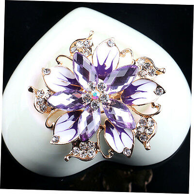 Luxury Women Beautiful Flower Brooch Pin Wedding Bridal Jewelry Brooch XRAU