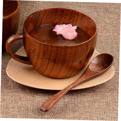 260ml / 8.8 oz Natural Jujube Bar Wooden Cups Mugs With Handgrip Coffee Mug XRAU