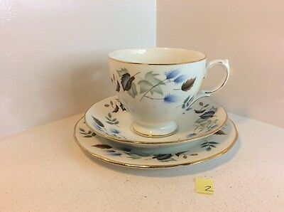 Colclough  Cup, Saucer And Side Plate Trio With Linden Pattern (445)