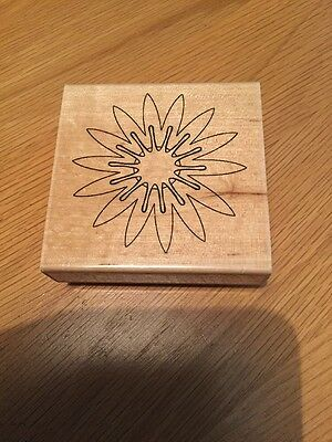 Rubber Stamp, Large Flower, New