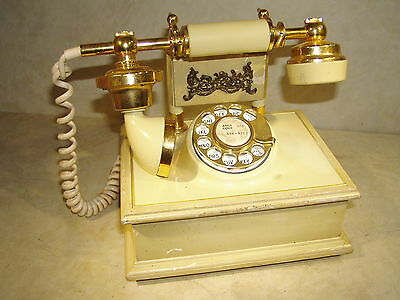 Vntg American Telecommunications Co. Rotary Dial French Style Desk Phone Mod1320