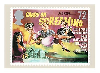 Carry On Screaming Film Poster Artwork Carry On & Hammer Films Phq312 - Postcard