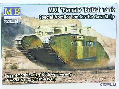 "Master Box 1:72 MB72004 Mark I ""Female"" British Tank Special Modification - NEU!"