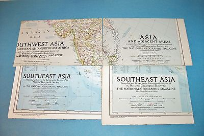 Vintage National Geographic Maps - Asia - Southeast Asia - Southwest Asia