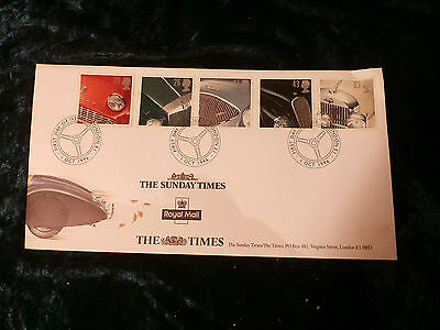 @ SUNDAY TIMES - BRITISH CARS STAMPS - 1st OCTOBER 1996 - FIRST DAY COVER (A)