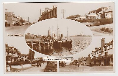 Invergordon in Old 1920's-1932 Real Photo Multiview PPC, VG Unused