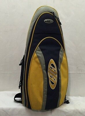 New Gig Padded Alto Saxophone Navy Yellow Carry Case Bag Instrument