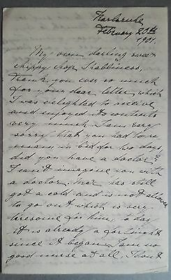 Princess Marie Louise of Hanover 1901 Letter