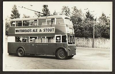 Real Photo Postcard Size Maidstone Corporation Trolley Bus Kent