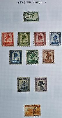 Belgium Congo - Sheet of 12 x Mint & F/used Stamps