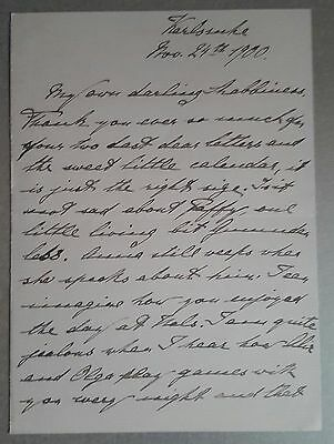 Princess Marie Louise of Hanover Handwritten and Signed Letter
