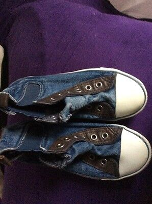 boys converse slip on shoes size 13