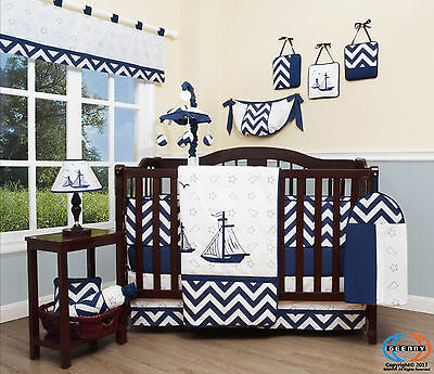 Baby Nautical Explorer 13 Piece Nursery CRIB BEDDING SET