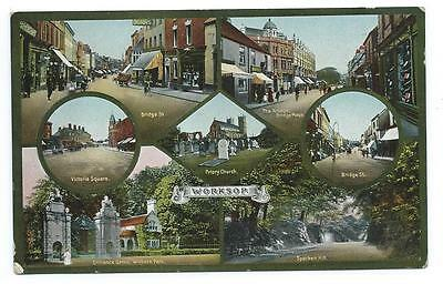 Lovely Edwardian Era  7-View Colour Pc Of Views In And Around Worksop