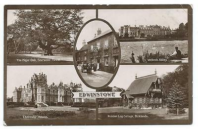 Lovely Edwardian Era  5-View B&w Real Photo Pc Of Views In And Around Edwinstowe