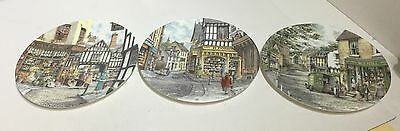 (T32) Three Royal Doulton 'Window Shopping' Collectors Plates Bradex Numbered