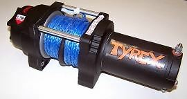 Raptor 4x4 Tyrex Winch ATV 4000lbs Synthetic Rope Off Road Recovery Winching