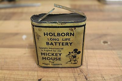 Vintage Mickey Mouse Holborn Long Life Battery For Toy Lantern