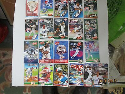 Montreal Expos / 21 Official Schedules From 1980's/1990's/2000 /13 In French