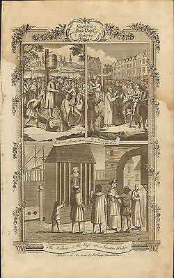 1776. suffering & death in the reign of mary 1st . woman in the cage - london
