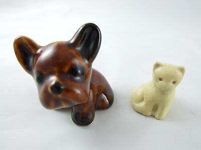"Rare miniature DENBY "" BYNGO "" DOG brown with cat, also Denby?"