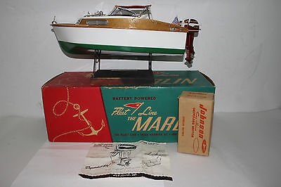 1950's Fleetline Marlin Boat with Johnson Sea Horse Motor, with Boxes